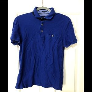 Ted Baker gorgeous blue designer polo 4 or US L